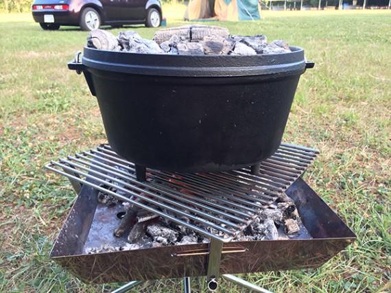 ダッチオーブン ローストチキン