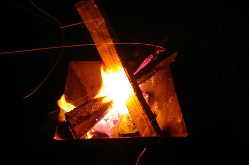 フォレストパークあだたら焚き火