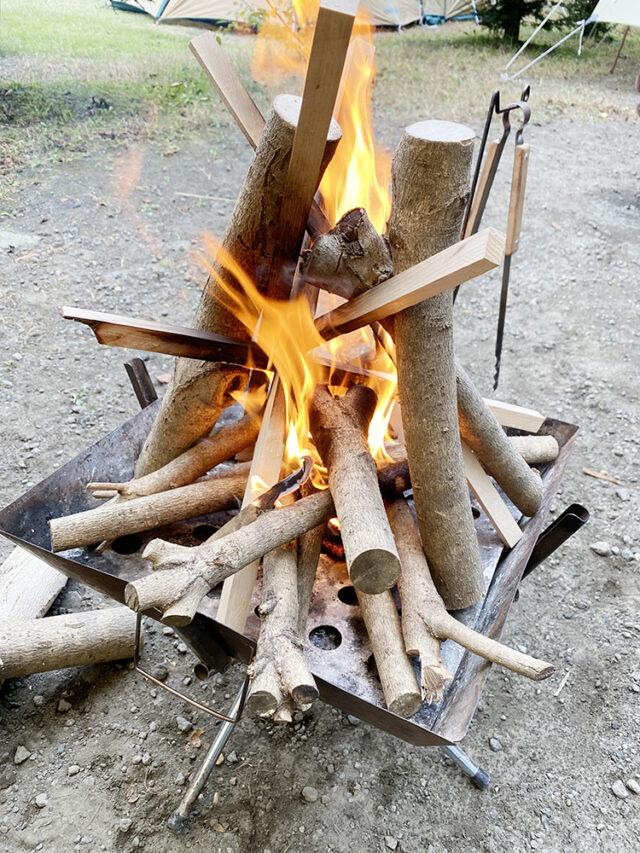 キンモクセイでたき火