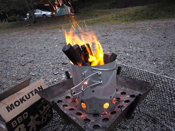 大型火消しつぼ 火起し器セット